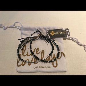 Gorjana Power Gemstone Black Onyx Double Bracelet